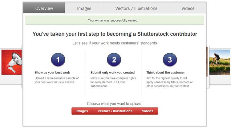 Shutterstock, регистрация, микросток